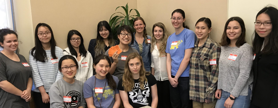 Women in Math Mentorship Group Photo