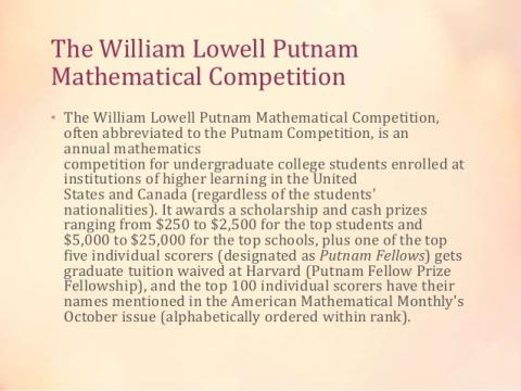 "lowell putnam did i miss something Rhetorical analysis essay the essay i chose to write my rhetorical analysis is called, ""did i miss something"" by lowell putnam beginning on page 189 in."