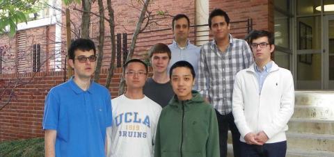 Ciprian Manolescu with UCLA Putnam students Tudor Padurariu, Cheng Mao, Michael Burks, Bingfeng Lu, Daniel Montealegre and Francisc Bozgan