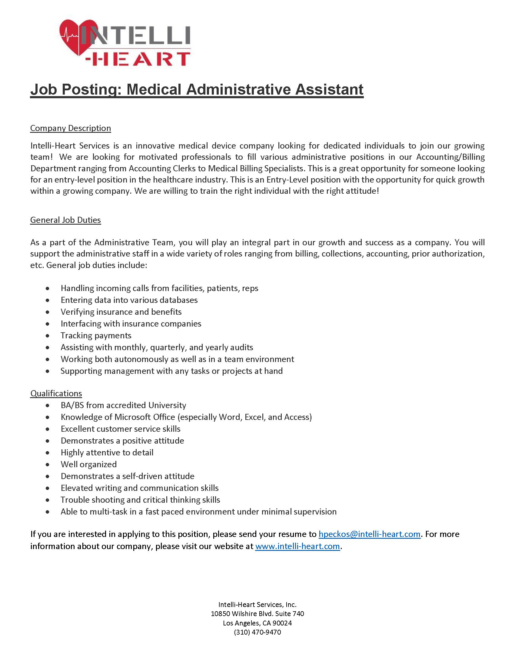 administrative assistant job posting ucla department of mathematics