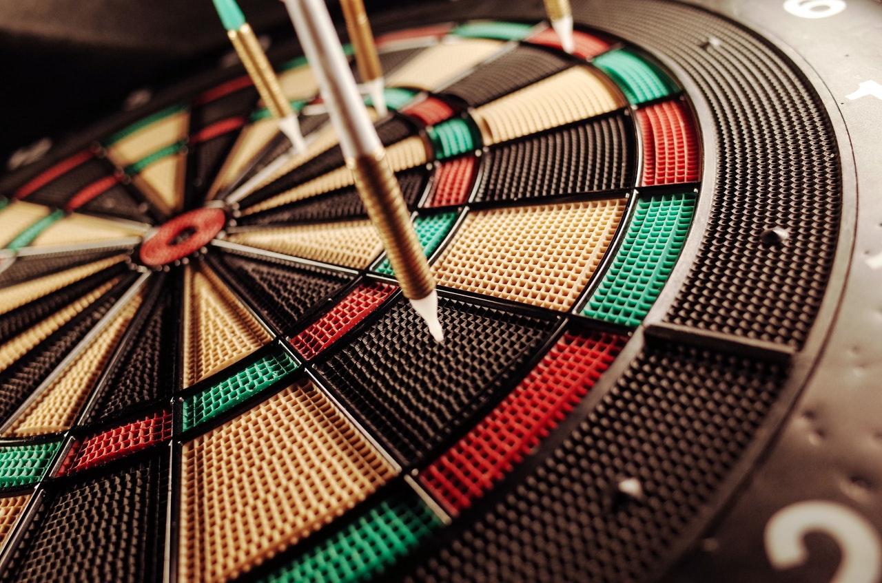 darts on a dartboard Bruin Actuarial Society