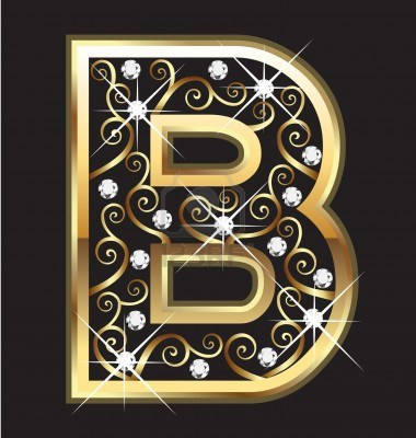 B Letter In Gold Igor Pak Catalan Numbe...