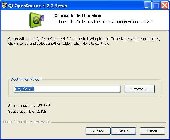 Qt installation instructions.